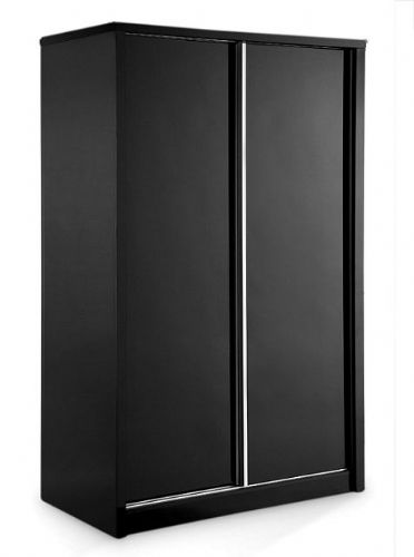 Astro Black High Gloss Double Wardrobe